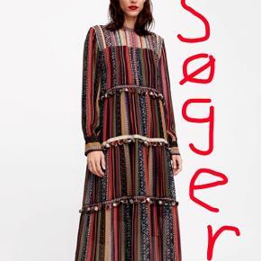 Søger denne kjole fra ZARA i størrelse s eller m.