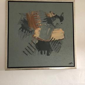 2 flotte og meget velholdte malerier sælges. Købt på galleri i Sindal. Mål 44x44 cm. Mp for begge.