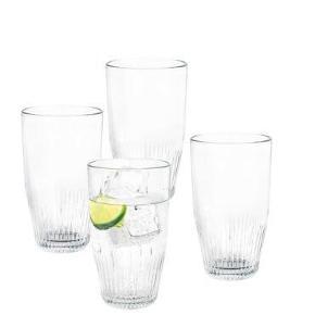 Jeg har tre kasser liggende, da jeg har fundet nogle andre - ingen af glassene er brugt✨ Der er 4 glas i hver, af 38 cl pr glas I alt har jeg 12 glas - sælges samlet, eller hver for sig🥰