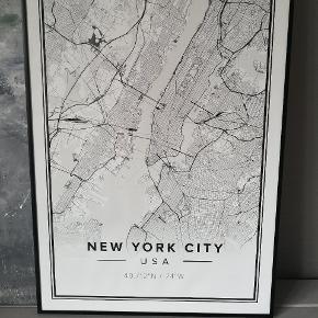 Flot plakat i ramme. 50x70