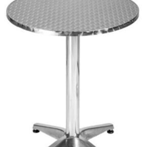 Helt nyt café bord. Kan justeres i højden. Perfekt til den lille altan eller udstue.   Skal afhentes i København.