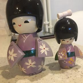 Kokeshi japanske trædukke, 2 stk.
