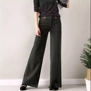 Velour fløjlsbukser med lommer og fast linning