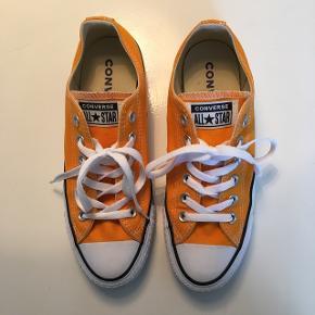 Gul Converse - virkelig fed solgul farve. Kun brugt en time, ingen pletter overhovedet. Str. 38/5.5.