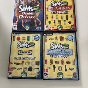 6 Sims 2 pakker. Sims 2 grundpakken, Nightlife, Celebration, Ikea, Kitchen & Bath og H&M Fashion. Kom gerne med et bud.