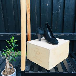 Black Velour-Leather Heels for every official occasion and every dress. A must of basics in the wardrobe.   Great condition, selling due to size unfit.