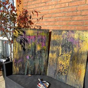 Smukt multifarvet akryl maleri på canvas sælges! Sæt 120x80cm  Alt skal væk Tilbud kun 550kr !!!🎉🎉