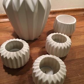 Vaser og lysestager  Bud modtages