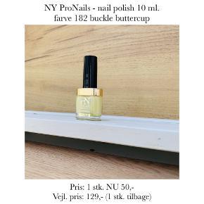 NY ProNails - nail polish 10 ml. farve 182 buckle buttercup  Pris: 1 stk. NU 50,-  Vejl. pris: 129,- (1 stk. tilbage)   Se også over 200 andre nye produkter, som jeg har til salg herinde :-)