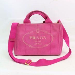 Mega nice pink Prada taske, remme kan justeres både til kort og lang.