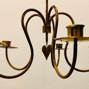 Illums Bolighus Messing stearinslys lampe a Den ene af lysholderne er revnet