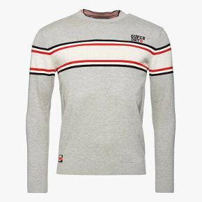 Parallel Stripe Crew  Style: M61103PT Farve: Grå Bomuld 100% C
