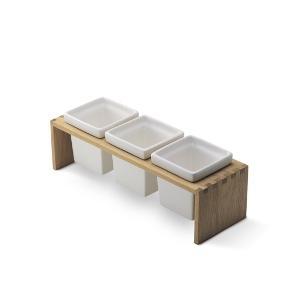 Trip Trap plint 3 opbevaringsbeholdere eller plantekrukker. Har ikke været brugt længe.