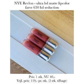 NYE Revlon - ultra hd matte lipcolor farve 630 hd seduction   Pris: 1 stk. NU 40,- Vejl. pris: 119,- pr. stk. (2 stk. tilbage)   Se også over 200 andre nye produkter, som jeg har til salg herinde :-)