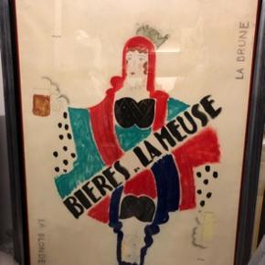 Stor vintage original fransk plakat (importeret fra Frankrig)  Mål: b135 h175  Prisen er det den er vurderet til, men bud er velkomne.