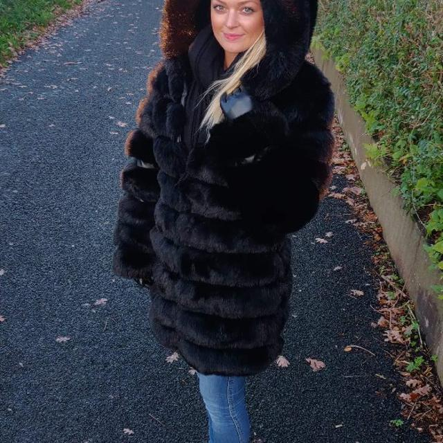 Kunstpels Long Hair Faux Fur Jacket