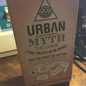 Urban Myth the game can you spot the myths. 300 cards 30 chips instructions. 50kr Kan hentes kbh v eller sendes for 40kr dao