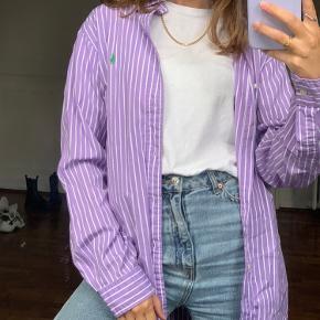 Lilla stribet vintage retro skjorte, oversized