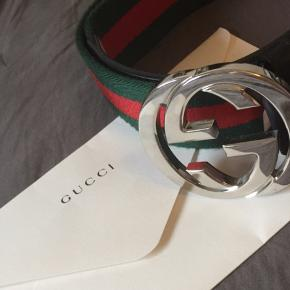 Fejlfrit Gucci bælte, brugt meget få gange Str 80