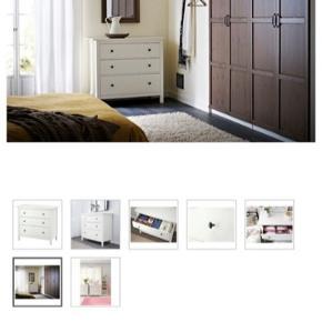 Ny stilren kommode fra Ikea.   *Billig pris grundet en lille ridse på overfladen, og ingen sidepanel/træplade bagi.  Fejler ellers intet.