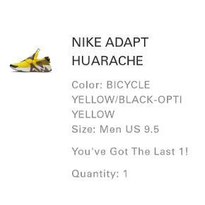 Helt nye nike adapt huarache i opti yellow.   DSWT. 3000kr eller kom med et bud