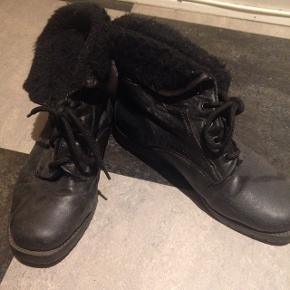 Korte vinterstøvler med for