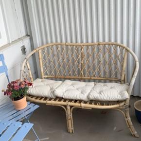 Udendørs bambusbænk 🌸✨