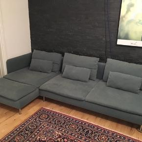 *Item not part of weekly shop boost offers*  IKEA Söderhamn modular sofa in turquoise (turkis) color, with chaise long. Covers can be removed and washed, easy to clean with wet cloth, no damages, no stains on cloth. Used for two years. The long side can be used as bed for visitors. Very comfortable and cozy 🙃  Full length is 290 cm, chaise long 150 cm, depth 100 cm (with back)  Pick up at Jægersborg, 2820 Gentofte, Copenhagen area. Needs to go before February 1st, 2020.
