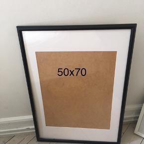Sort ramme fra IKEA 50x70 cm