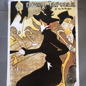 Fransk kunstplakat. Toulouse Lautrec: Divan Japonais  60,5 x 80,5 cm 175 kr #divanjaponais #toulouselautrec #tingtilvæggen #kunstplakat #plakat #gallerivæg #billedvæg #kunst #kunstvæg #toulouselautrecplakat #vintageplakat