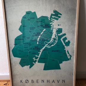 """København - Dag plakat fra """"En Klam Idé"""" sælges, IKEA ramme følger med. Måler 70x100 cm."""