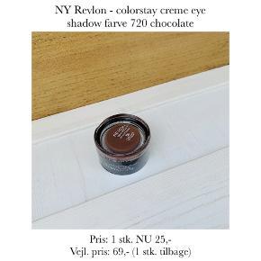 NY Revlon - colorstay creme eye shadow farve 720 chocolate  Pris: 1 stk. NU 25,-  Vejl. pris: 69,- (1 stk. tilbage)   Se også over 200 andre nye produkter, som jeg har til salg herinde :-)