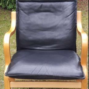 Læderlænestol fra ILVA i pæn stand. Np ca. 8000kr BYD gerne