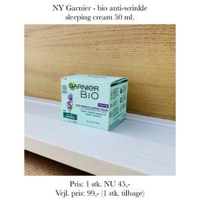 NY Garnier - bio anti-wrinkle sleeping cream 50 ml.   Pris: 1 stk. NU 45,-  Vejl. pris: 99,- (1 stk. tilbage)