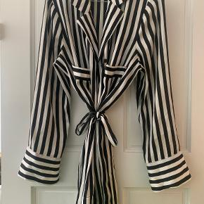 BY MALENE BIRGER Lanfi striped satin blouse. Fits true to size. Includes a belt to tie at the waist.