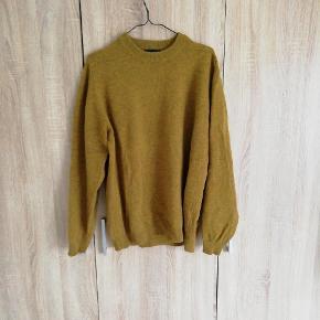 Vintage trøje i sennepsgul