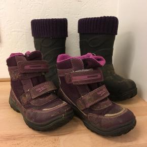 2par støvler, vinterstøvler og termostøvler i str. 28 sælges. Sælges samlet for 50kr  Kan sendes