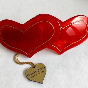 Søde hjerte spænde til stort hår fra franske Mc Davidian - 10cm langt