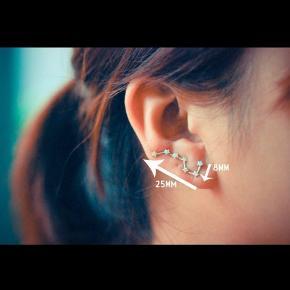 Fine øreringe med stjerner. 2,5 cm lange  0,5 cm bredde