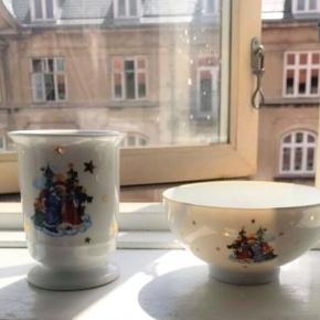 Fon royal Copenhagen kop / krus & skål fra jingle bells , perfekt til jul ..  en smule mærker indeni kruset øverst , som man ikke umiddelbart ser , deraf prisen   Sender gerne med dao