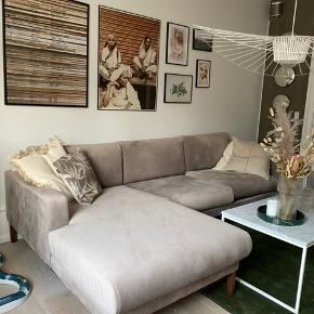 Sælger smuk 3-personers sofa i velour fra Bolia med chaiselong i venstre side. Modellen hedder North. Sofaen er under et år gammel og der er absolut ingen tegn på slid. Kvittering og alt medfølger. Farven er grå med et smukt rosa skær  Mål: Dybde: 94 cm, længde: 260, dybde chaiselong: 164, siddedybde: 64, ryghøjde 81 cm, siddehøjde 45 cm  Nypris 34000 kr Kom med bud!! Sofaen kan afhentes i København K
