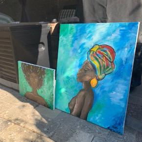 To malerier, sælges for 125 samlet