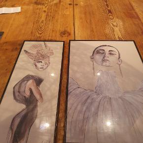 Designer og kunstner Anne Sofie Madsen litografi inklusiv ramme fra POSTERLAND, 50x30 format.   Begge billeder kan købes til en samlet pris for 1800,-  Det lille billede koster 1000,- inklusiv ramme, 50x20 format.