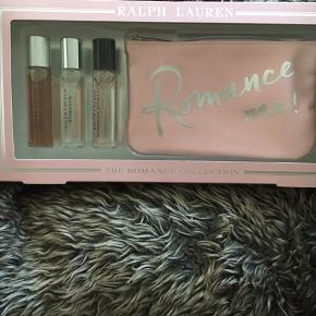 Helt ny limited edition med de 3 mest populære Romance dufte incl sød lille pung/taske   Hver parfume er på 15 ml -så ialt 45 ml edp   Hentes i Greve el sendes med dao for 38kr