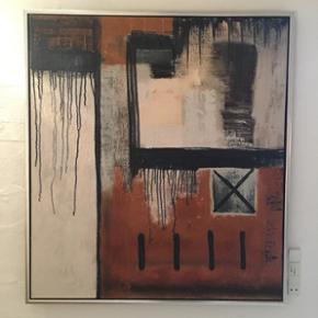 Maleri af Gitte Klausen fra galleri habsø / midtjysk kunstcenter. Nypris var 8000kr. Det fejler ikke noget. 95x105