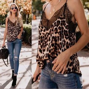 Leopard top med blonde