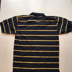 Vintage Ralph Lauren Polo Mørkeblå/gul Str XL, men fitter M