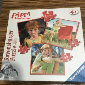 3 i en puslespil med Pippi. Afh i 6710