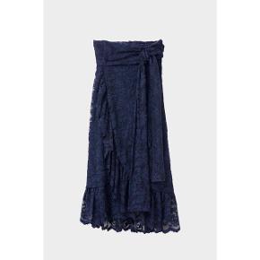 Slå-om-nederdel med bindebånd Str. 36 ~ 36/38