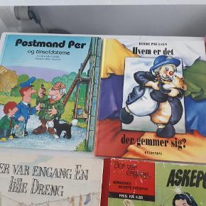 6 blandede børnebøger. Pris er for alle 6 stk. Porto 45 kr